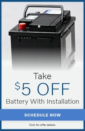 Take $5 OFF Battery With Installation
