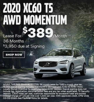 New 2020 Volvo XC60 T5 AWD Momentum - February Special