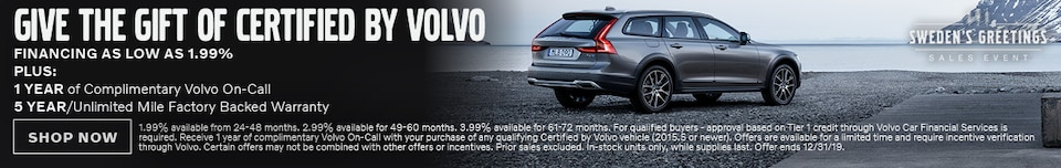 Certified By Volvo - December Special