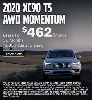 New 2020 Volvo XC90 T5 AWD Momentum