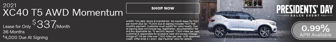 2021 XC40 T5 AWD Momentum