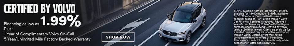Certified By Volvo - February APR Special