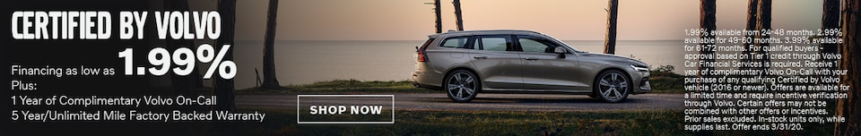 Certified By Volvo - March APR Special