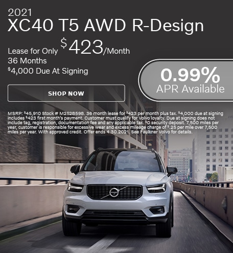 2021 XC40 T5 AWD R-Design - April Offer