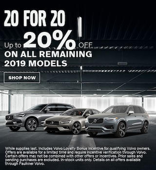 20% OFF Remaining 2019 Models