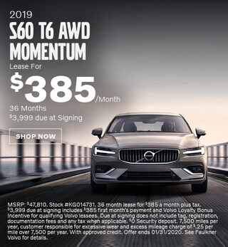 New 2019 Volvo S60 T6 AWD Momentum - January Special