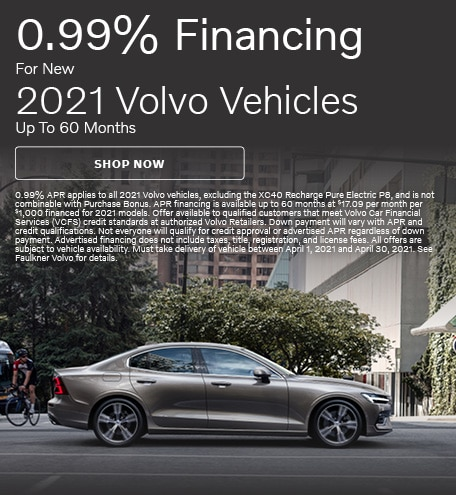 0.99% Financing  For New 2021 Volvo Vehicles - April Offer