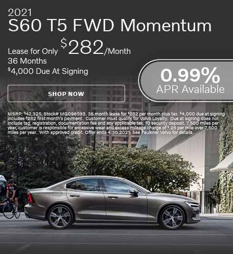 2021 S60 T5 FWD Momentum - April Offer