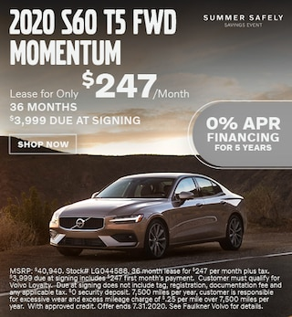 New 2020 Volvo S60 T5 Momentum - July Special