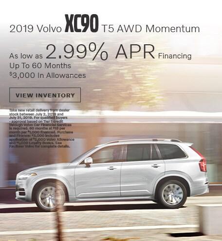 2019 Volvo XC90 T5 AWD Momentum Financing