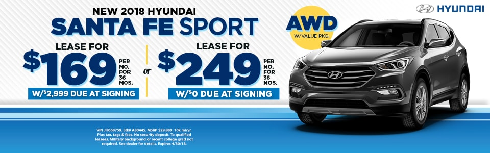 2018 Santa Fe Sport For $169/mo At Fred Beans Hyundai