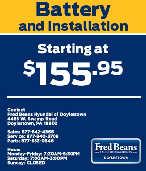 Battery and Installation Starting at $155.95