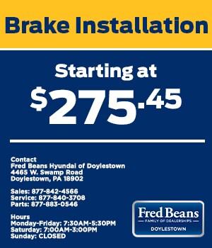 Brake Insallation Starting at $275.45
