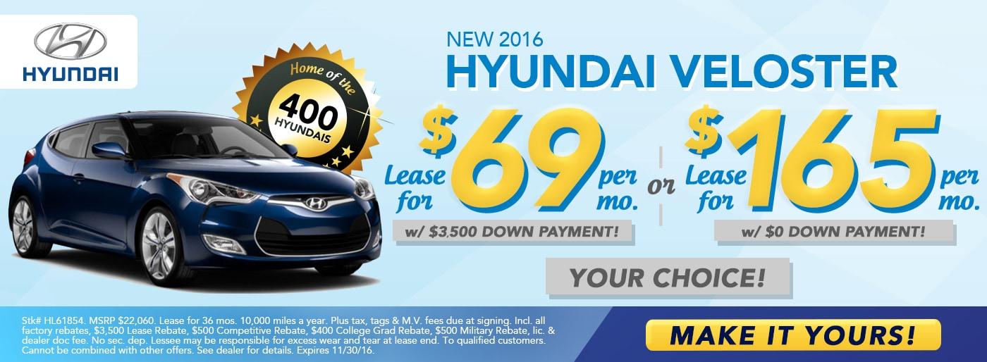Delightful 2016 Hyundai Veloster For $69/mo At McCafferty Hyundai