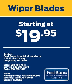 Wiper Blades Starting at $19.95