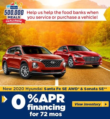 New 2020 Hyundai Santa FE SE AWD* & Sonata SE**
