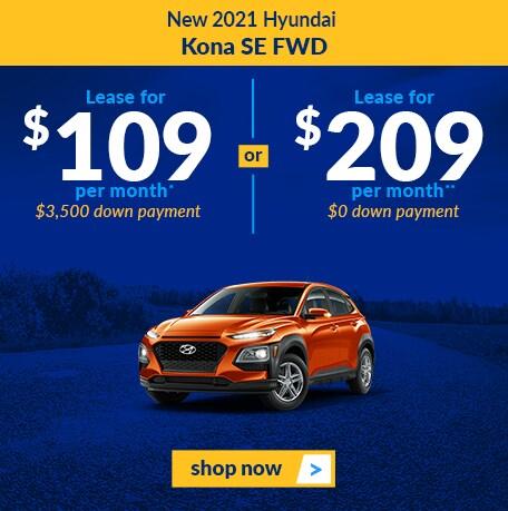 New 2021 Hyundai Kona SE FWD