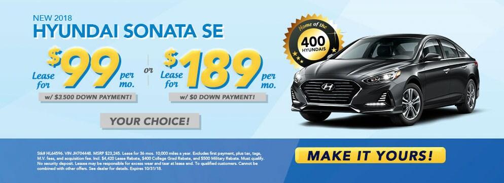 Great 2018 Hyundai Sonata SE For $99/mo At McCafferty Hyundai