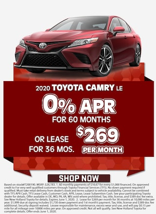 0% APR for 60 Months OR Lease for $269/mo for 36 mos.!