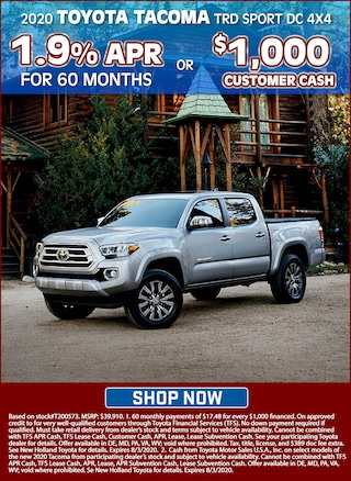 1.9% APR for 60 Months or Receive $1000 Customer Cash!