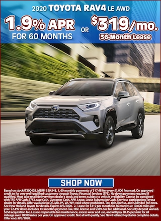 1.9% APR for 60 Months or Lease for $319 per month for 36 months!