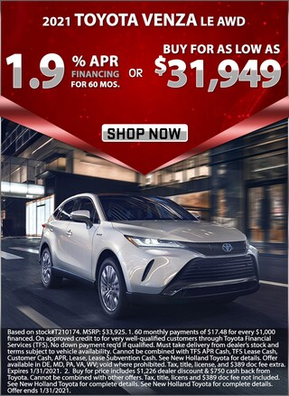 1.9% APR for 60 Months or Buy for as low as $31,949!