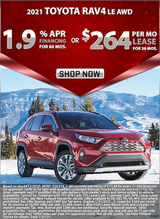 1.9% APR for 60 Months or Lease for $264 per month for 36 months!
