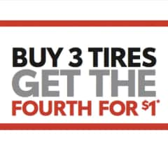 Buy 3 Tires, get the 4th for $1!