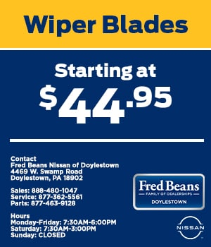 Wiper Blades Starting at $44.95