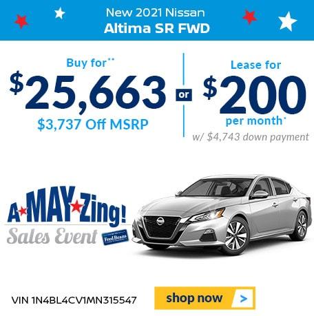 2021 Nissan Altima 2.5 SR FWD