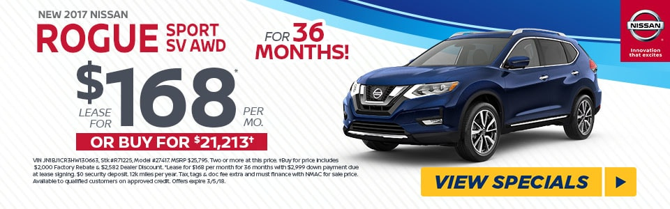 2017 NISSAN ROGUE SPORT SV AWD $168/MO AT FRED BEANS NISSAN OF DOYLESTOWN