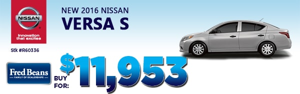 2016 NISSAN VERSA S $11,953 AT FRED BEANS NISSAN OF DOYLESTOWN