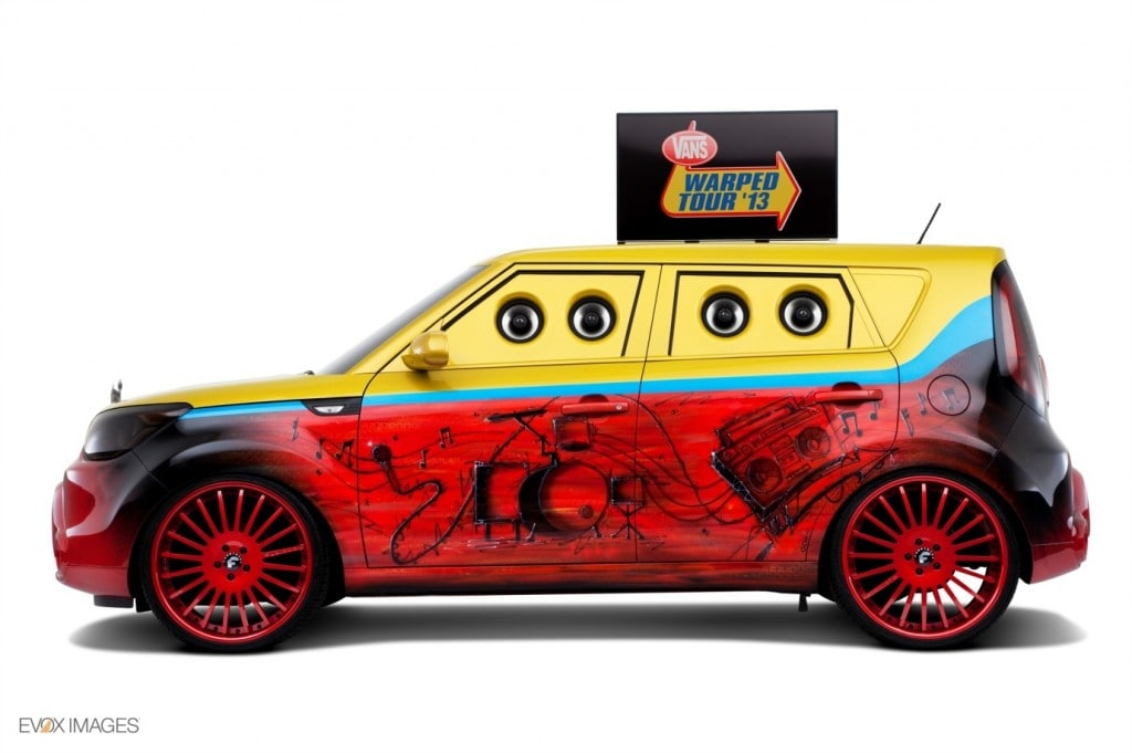 kia soul 2014 colors. this unique soul features a full custom paint job inspired by the colors of vanu0027s warped tour with eyecatching airbrush artwork kia 2014