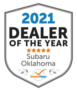 2021 Oklahoma Subaru Dealer of the Year from DealerRater