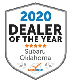 2020 Oklahoma Subaru Dealer of the Year from DealerRater