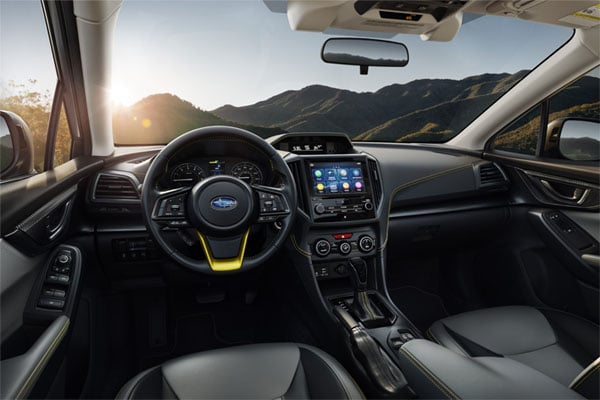 2021 Subaru Crosstrek dashboard