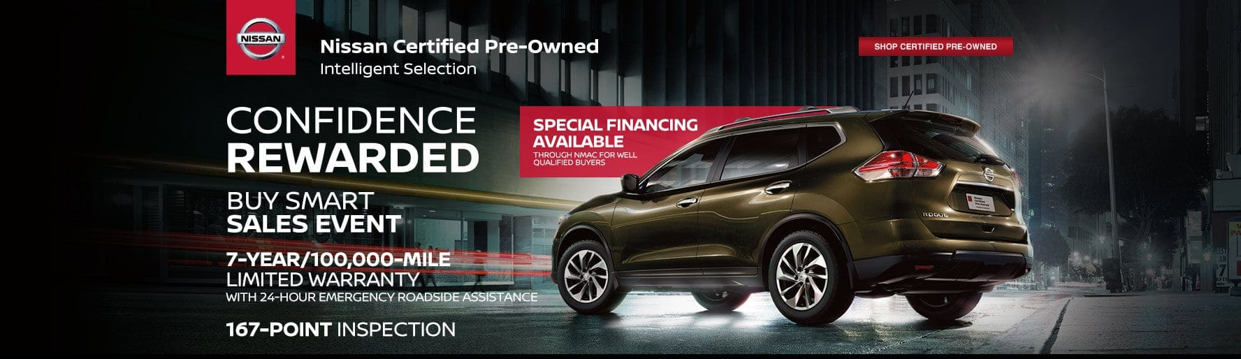 Nissan Certified Pre-Owned - Confidence Rewarded Buy Smart Sales Event - Shop certified pre-owned