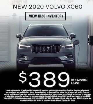 New 2020 Volvo XC60 - $389 per Month Lease