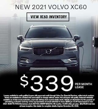 New 2021 Volvo XC60 - $339 per Month Lease