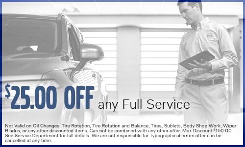 $25.00 Off any Full Service