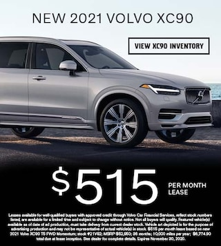 New 2021 Volvo XC90 - $515 per Month Lease