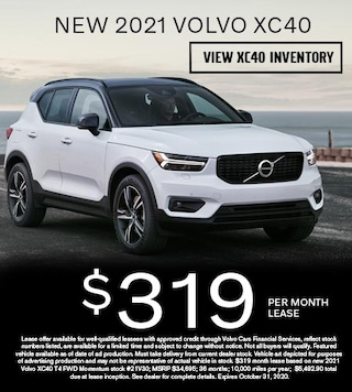 New 2021 Volvo XC40 - $319 per Month Lease