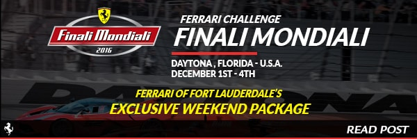 Ferrari of Fort Lauderdale's Exclusive Weekend Package Finali Mondiali