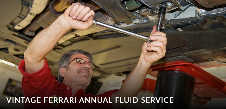 Ferrari Vintage Annual Fluid Service in Fort Lauderdale
