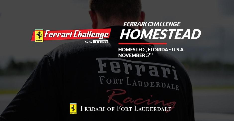 RALLY TO FERRARI CHALLENGE HOMESTEAD