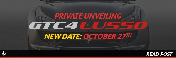 private unveiling of the all new Ferrari GTC4Lusso