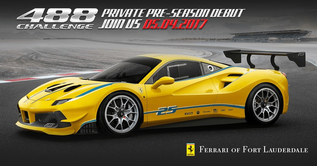 Ferrari 488 Challenge Private Pre-Season Debut on May 4th