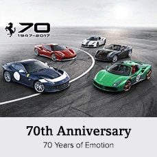 Celebrate Ferrari's 70 years of Driving Emotions