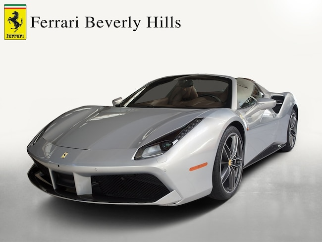 Certified Pre-Owned 2017 Ferrari 488 Spider Convertible For Sale Beverly Hills, California