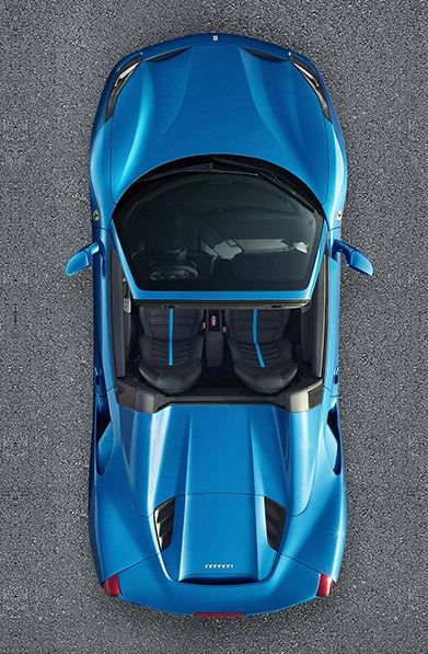 Ferrari 488 Spider top view